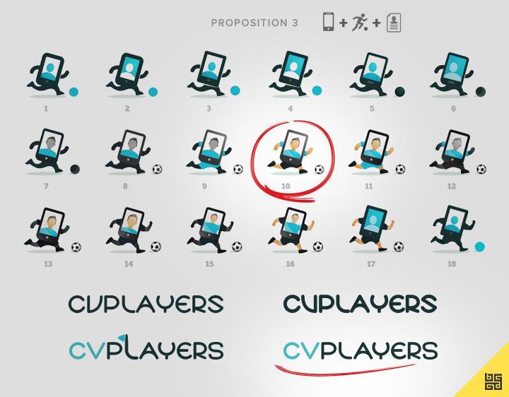 Croquis de logo pour CVPlayers